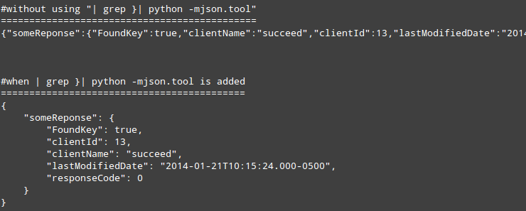 curl using application json for post request
