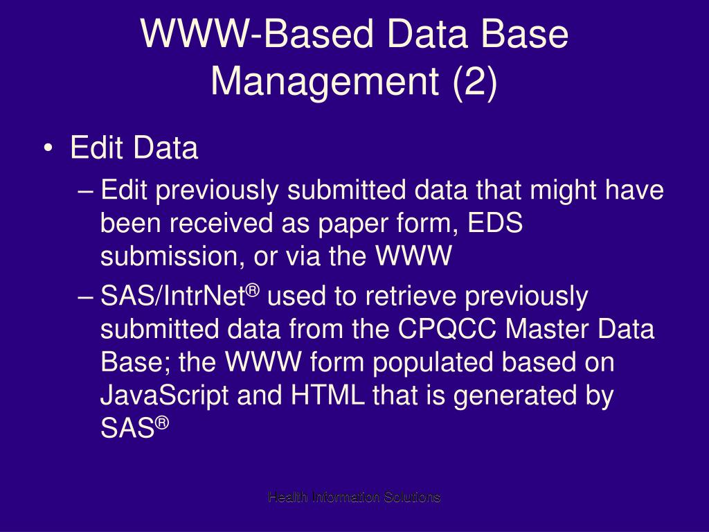 database application is a collection of what
