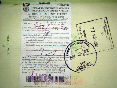 how to check permanent residence application status in south africa