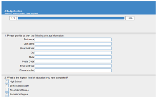 online employment application template html