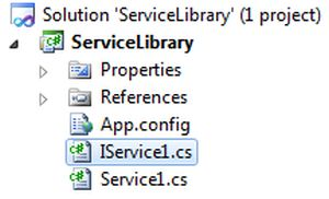 difference between wcf library and application