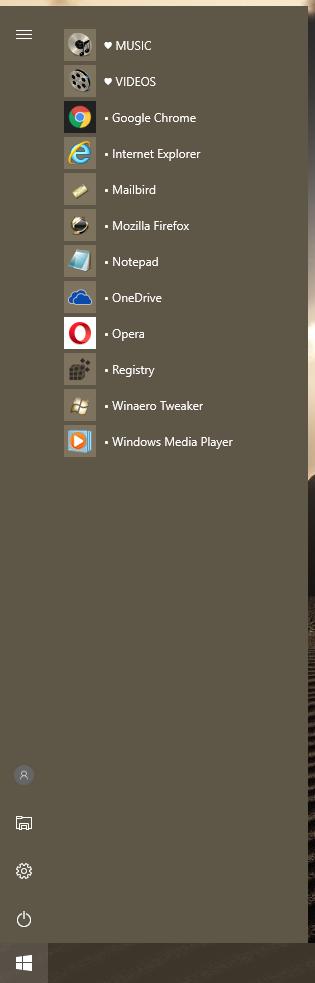 windows 10 how list applications