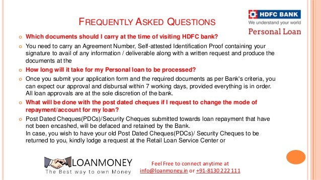 hdfc personal loan application accepted