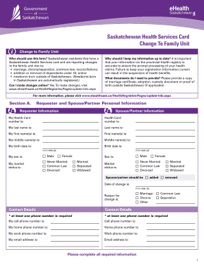 health card application form saskatchewan