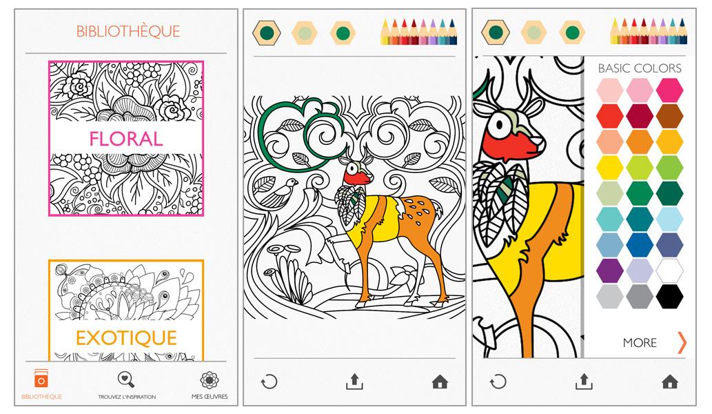 ipad et applications clipart a colorier