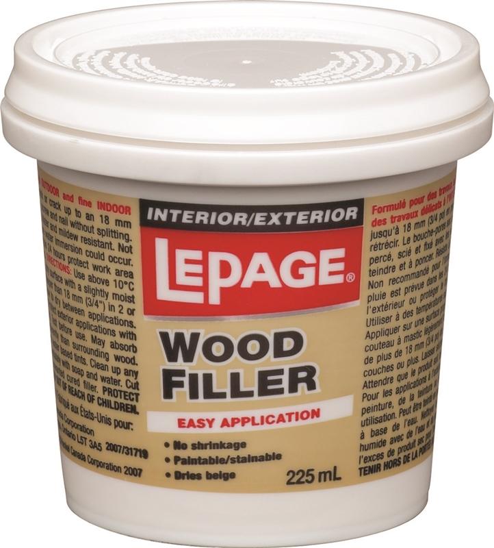 lepage wood filler 90ml white easy application drying time