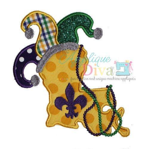 mardi gras embroidery applique designs