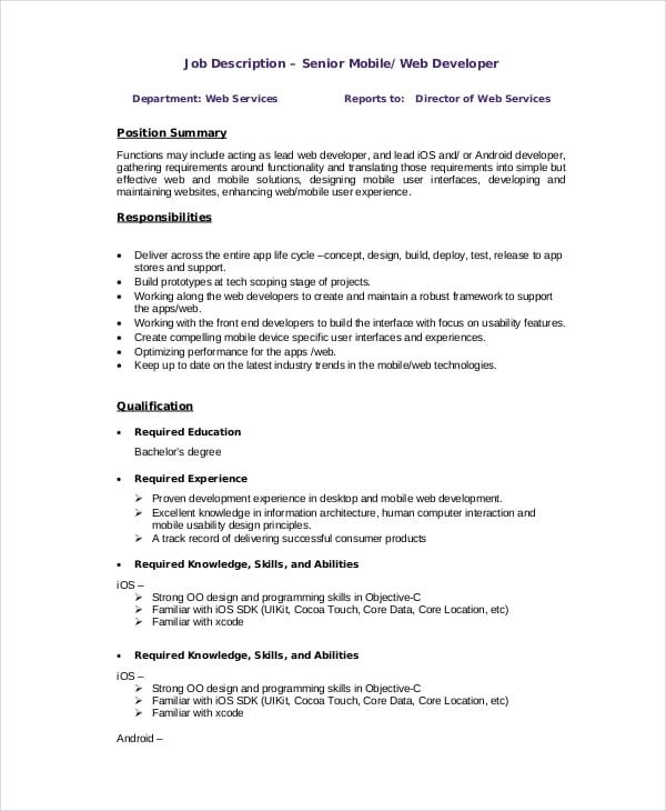 mobile web application development pdf