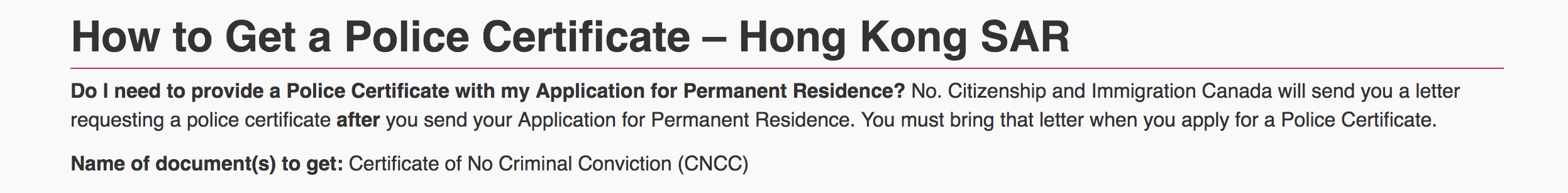 online application for hongkong police clearance