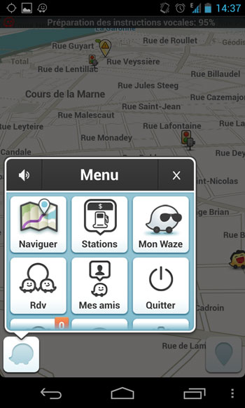 partage de position ios application alarme
