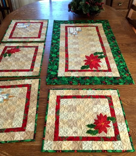 poinsettia free pattern for applique