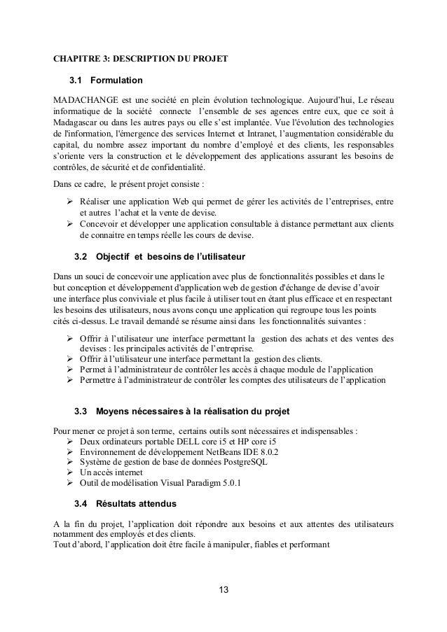 rapport pfe informatique application web pdf