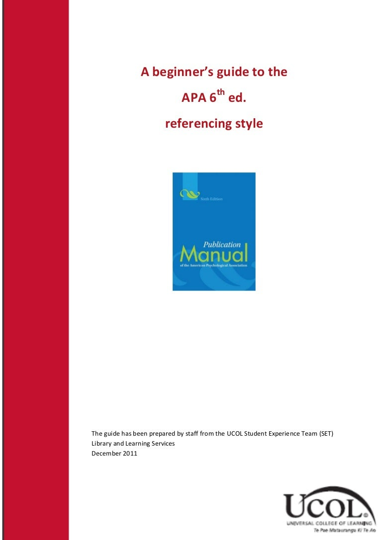 referencing an application in apa
