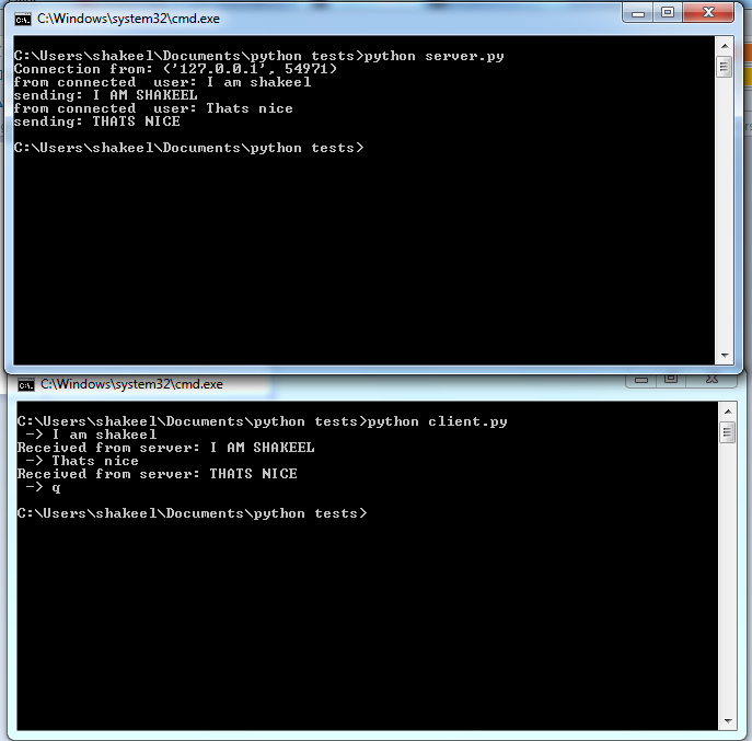 related works to chat application using python socket prgoramming