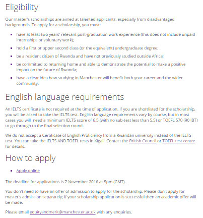 university of manchester graduate application deadline